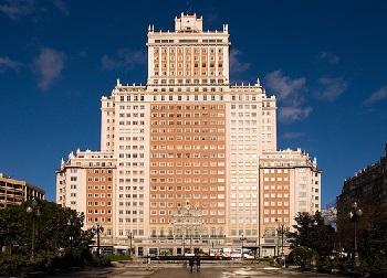 edificio españa madrid centro comercial y hotel